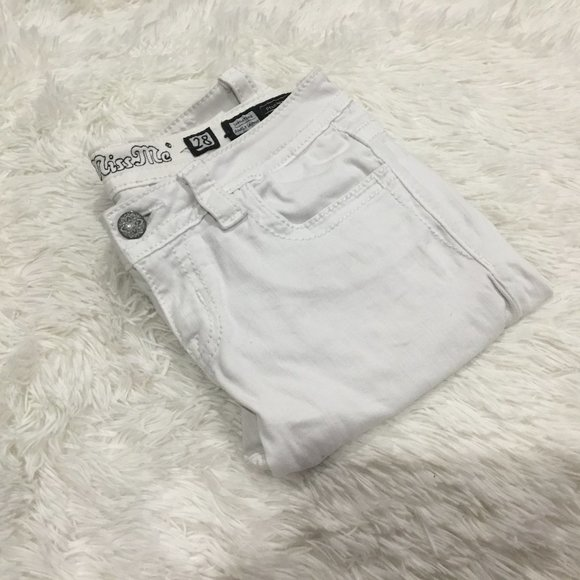 Miss Me Signature Ankle Skinny Jeans White